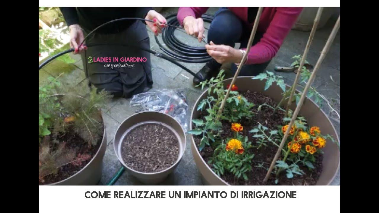 Come realizzare un impianto di irrigazione senza l\'aiuto di un uomo ...