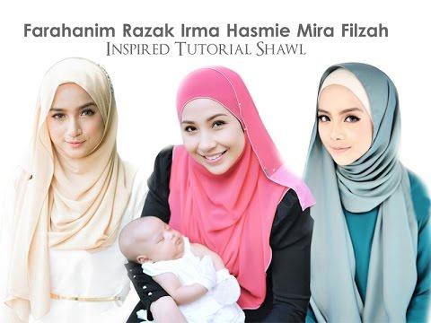 FarahanimRazak || IrmaHasmie || MiraFilzah inspired tutorial shawl
