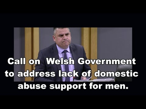 Call on Welsh Government to address lack of domestic abuse support for men.