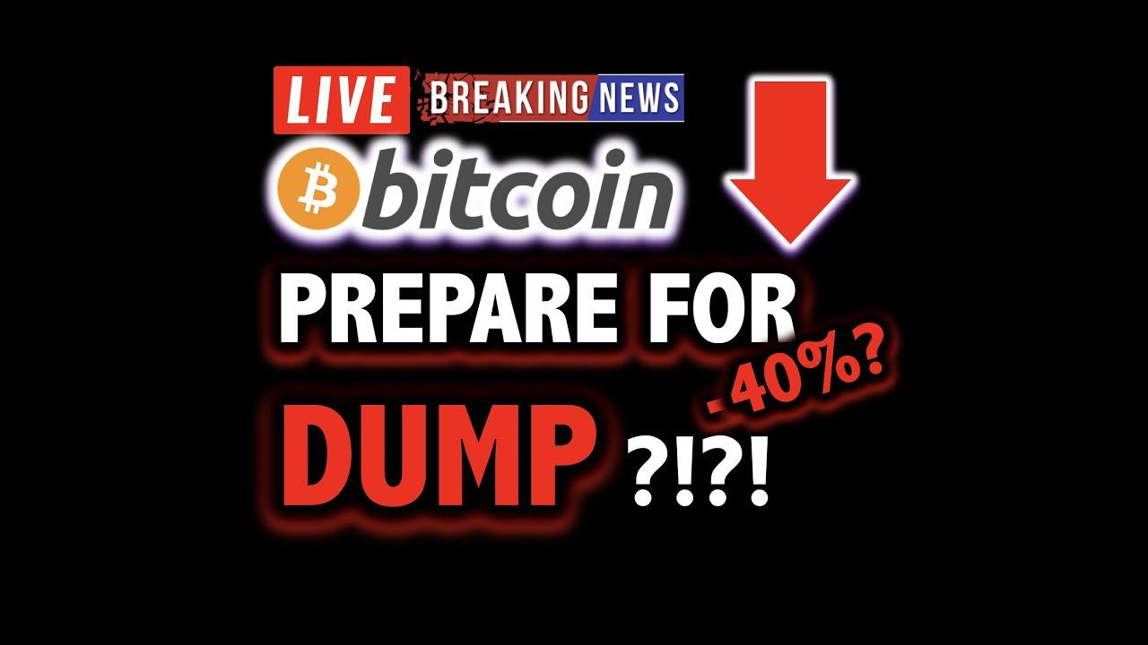 BITCOIN DUMP INCOMING?! -40% DROP POSSIBLE?!