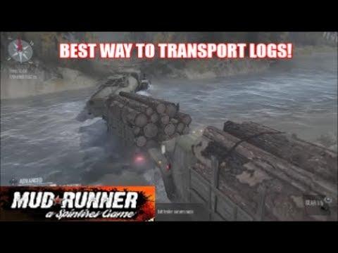 SpinTires Mud Runner - Best & Fastest Way To Transport Logs