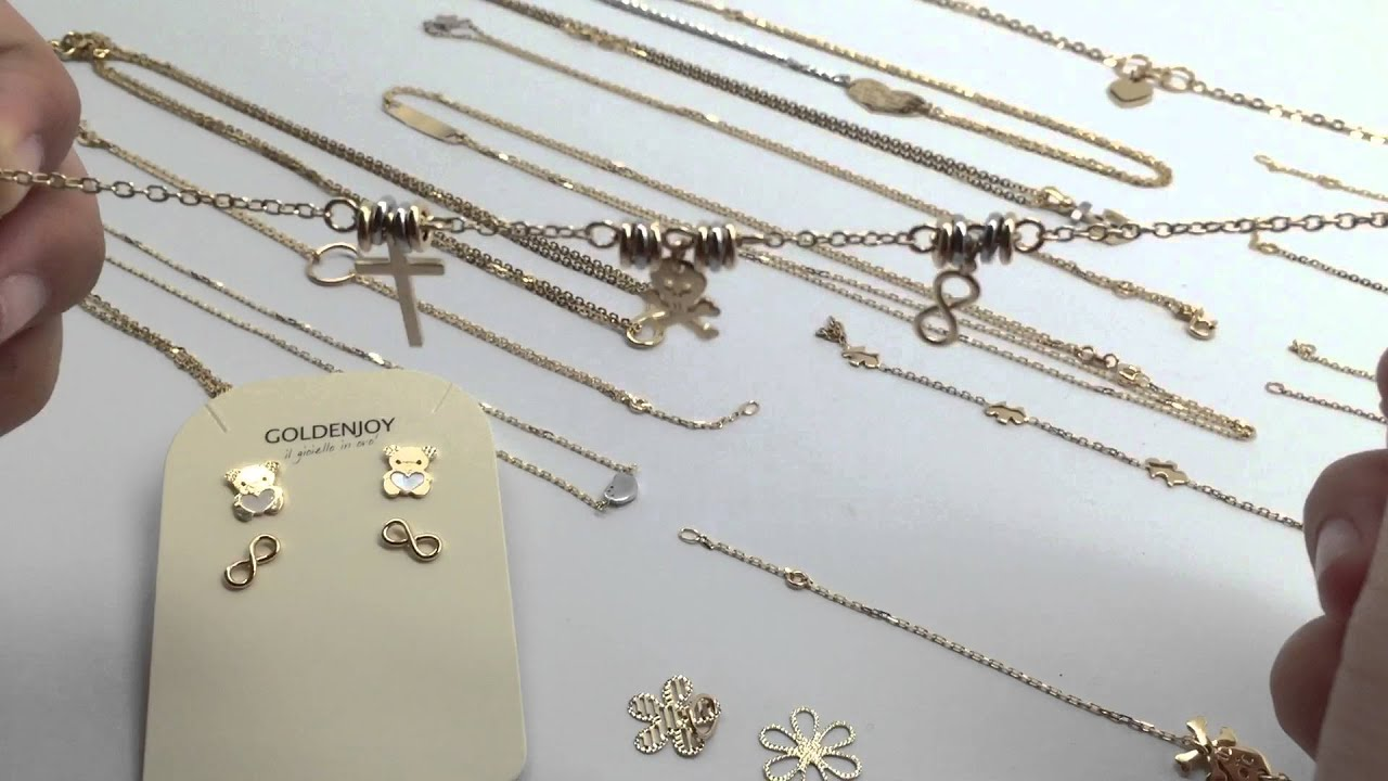 18k gold jewelry made in Italy Treat yourself a beautiful gift