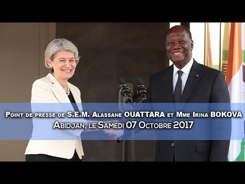 Point de presse de S.E.M. Alassane OUATTARA et Mme Irina BOKOVA