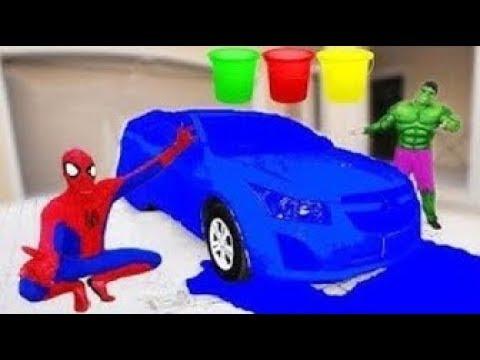 Баффа Против Слизи Против Машины! Выучить Цвета С Человеком пауком И Пальцем