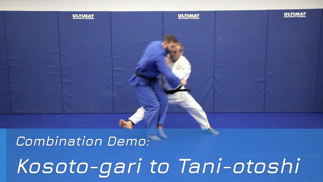 Kosoto-gari to Tani-otoshi - Combination demo