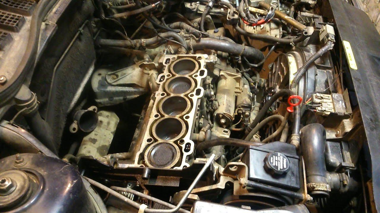 Ремонт двигателя Volvo 5 цилиндров ч.2.Снятие головки блока.
