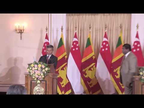 Singapore's Foreign Affairs Minister Dr. Vivian Balakrishnan talks to media