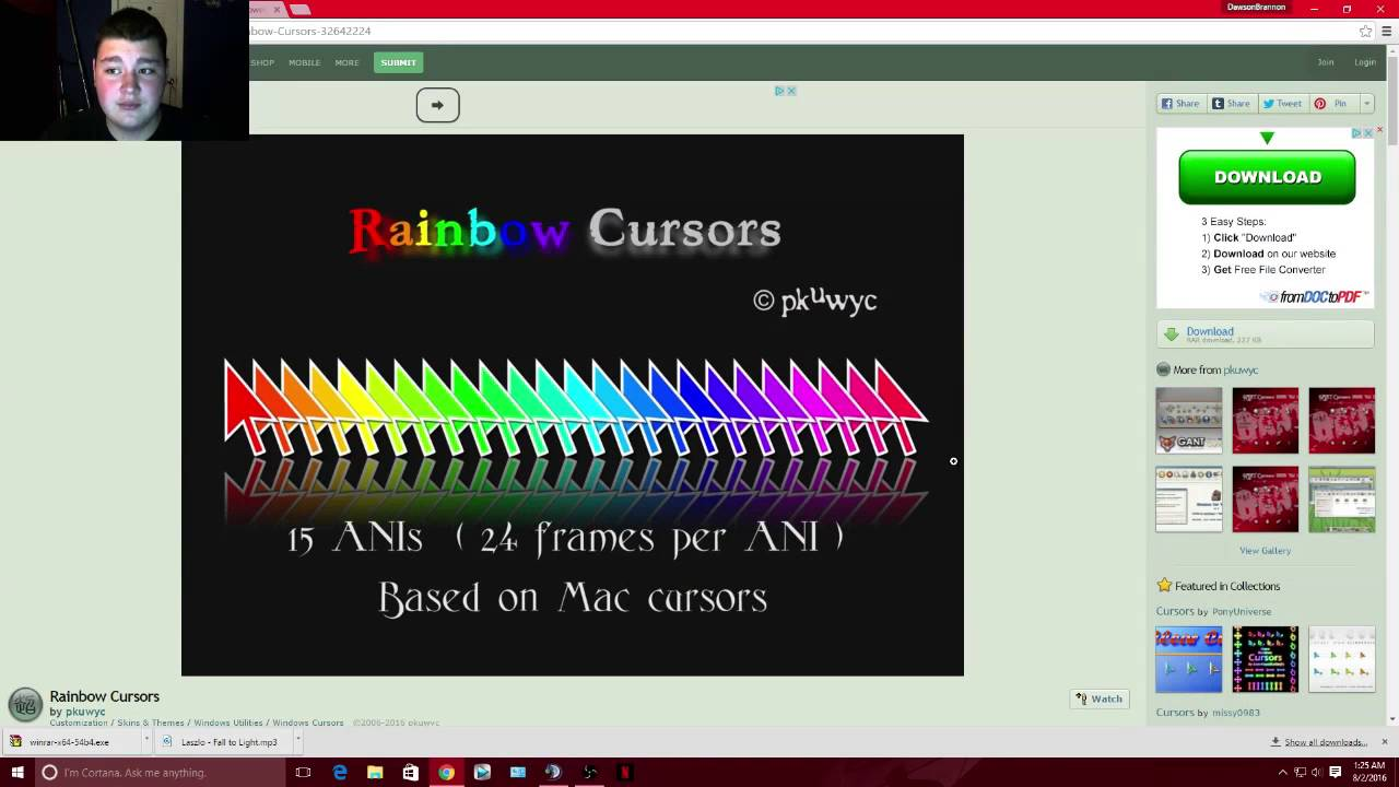 How To Change Mouse Cursors Color!!