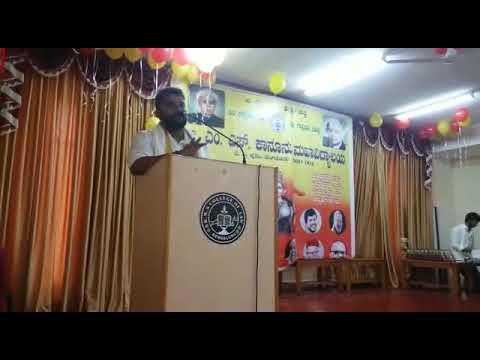Speech on Kannada by my friend Naveen, BMS Law college. Basavangudi, Bangalore.