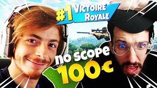 """Je reçois """"100€"""" pour ce *NOSCOPE DE FOLIE* par CYRIL EN LIVE sur FORTNITE !"""