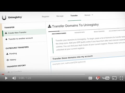 How To Bulk Transfer Domain Names Away from GoDaddy to Uniregistry