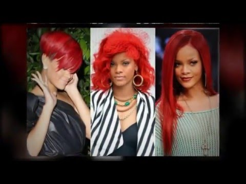 Rihanna's Rocking Red Hairstyles