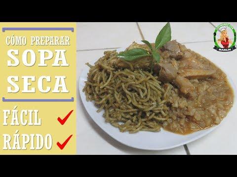 Cómo preparar Sopa Seca   Receta casera especial + Carapulcra