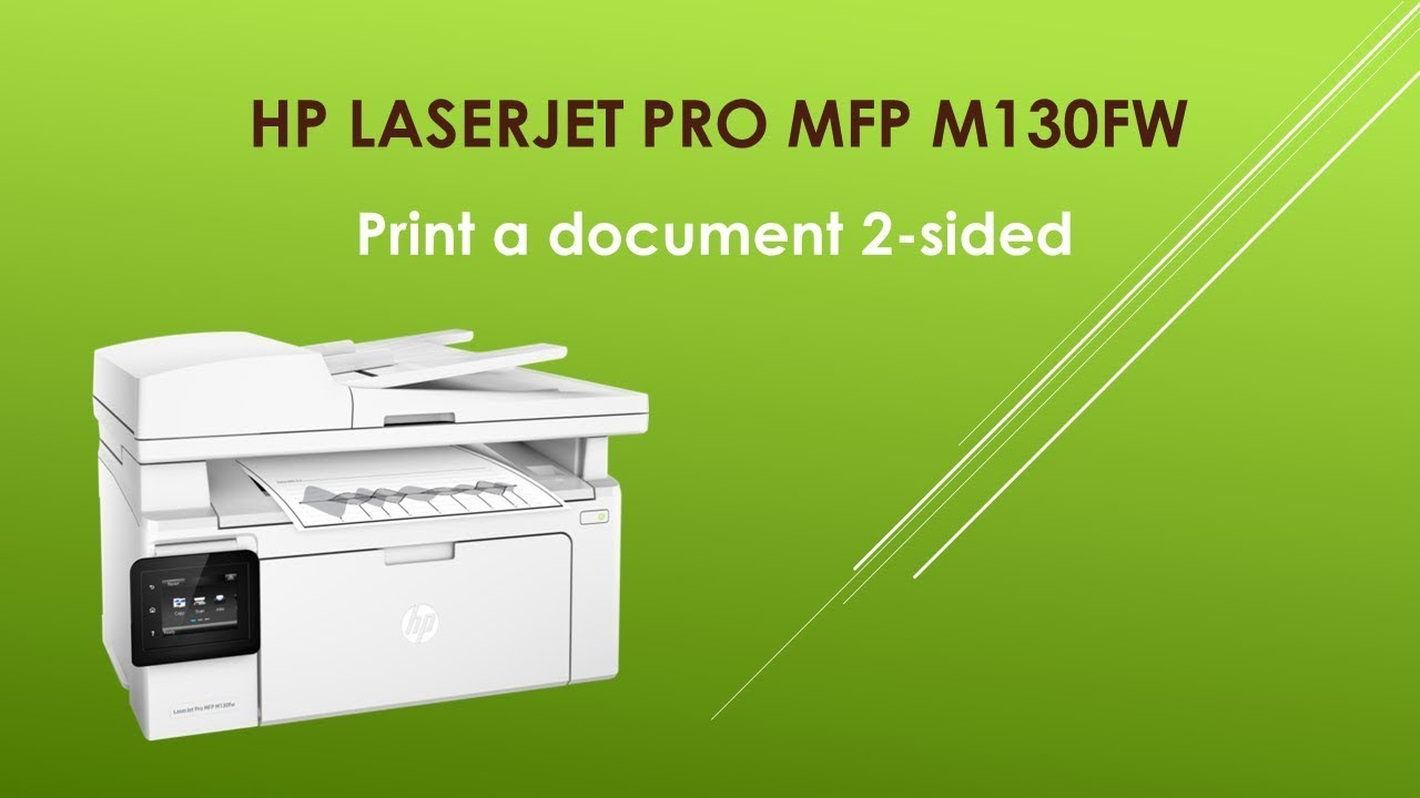 HP LaserJet Pro MFP M130fw Print a document 2 sided or double sided