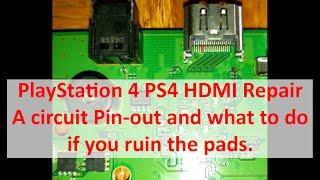 PlayStation 4 SAA / SAB-001 Motherboard HDMI Pin-out (10xx / 11xx Series)