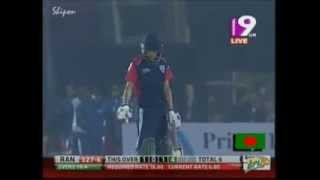 Nasir Hossain vs Shapoor Zadran ! in BPL 2013 { Rangpur Riders Vs Khulna Royal Bengals}
