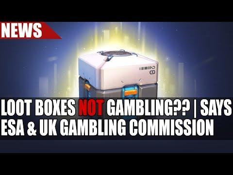 ESA & UK Gambling Commission Say Loot Crates NOT Gambling