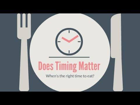 Food intake: Does timing matter?