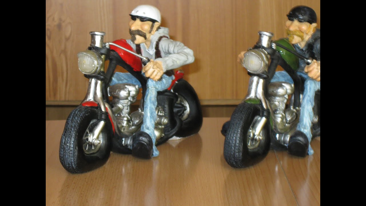motorrad biker reisen easy rider statue figur skulptur. Black Bedroom Furniture Sets. Home Design Ideas