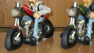 Motorrad Biker Reisen Easy Rider Statue Figur Skulptur Dekofigur