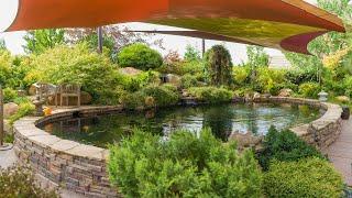 Massive 22,000 Gallon Custom Pond Koi Pond, Yet Designed And Built For Ease Of Maintenance.