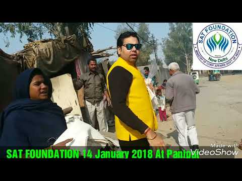Sat Foundation NGO#14 Jan 2018#Slum Area Panipat#Showl & Clothes  Distribution