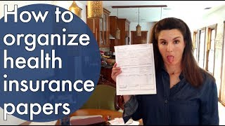How to organize health insurance paperwork