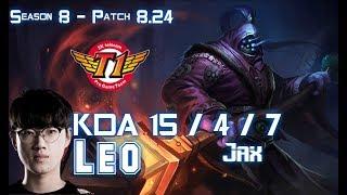SKT T1 Leo JAX vs IRELIA Top - Patch 8.24 KR Ranked