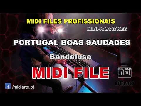 ♬ Midi file  - PORTUGAL BOAS SAUDADES - Bandalusa