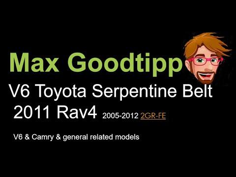 2011 toyota rav4 v6 serpentine drive belt install replace 2006-2012