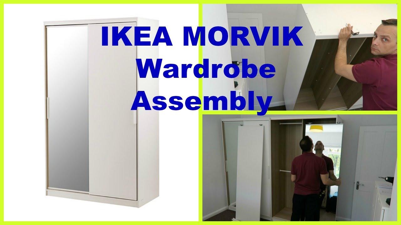 ikea morvik wardrobe youtube. Black Bedroom Furniture Sets. Home Design Ideas