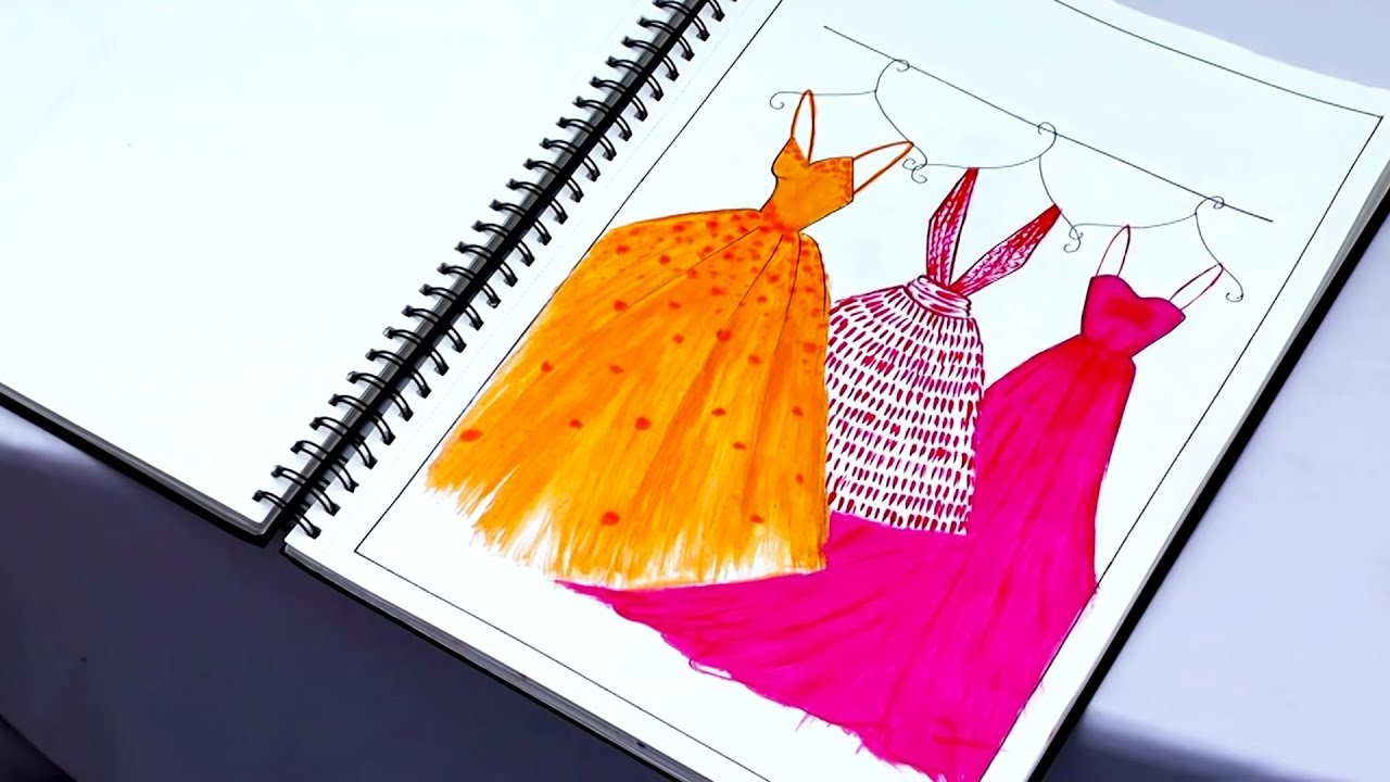 My Fashion Project Fashion Illustrations Application Of Design Kiran Saro Youtube