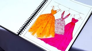 My Fashion Project | Fashion Illustrations | Application of Design | Kiran Saro