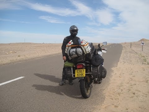 [Slow TV] Motorcycle Ride - Morocco - Western Sahara - Es-Semara to Tan Tan
