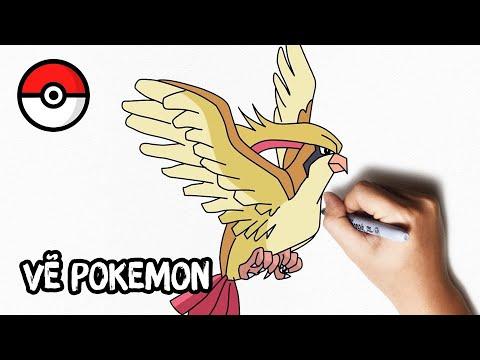 Cách Vẽ Pokemon Pidgeot Dễ Dàng | How To Draw Pokemon Pidgeot Step By Step