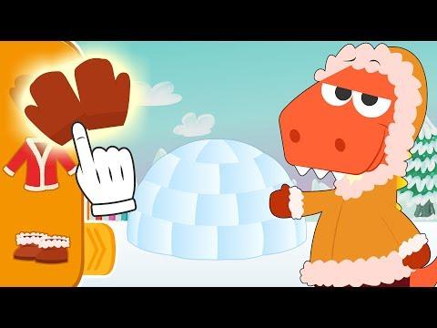 Aprende con Eddie a disfrazarte de esquimal | Eddie el dinosaurio hace un iglú de hielo