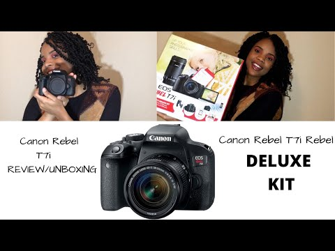 Canon EOS Rebel T7i Deluxe Kit Unboxing/ Review| Best Buy Black Friday Deals| I FINALLY GOT A CAMERA