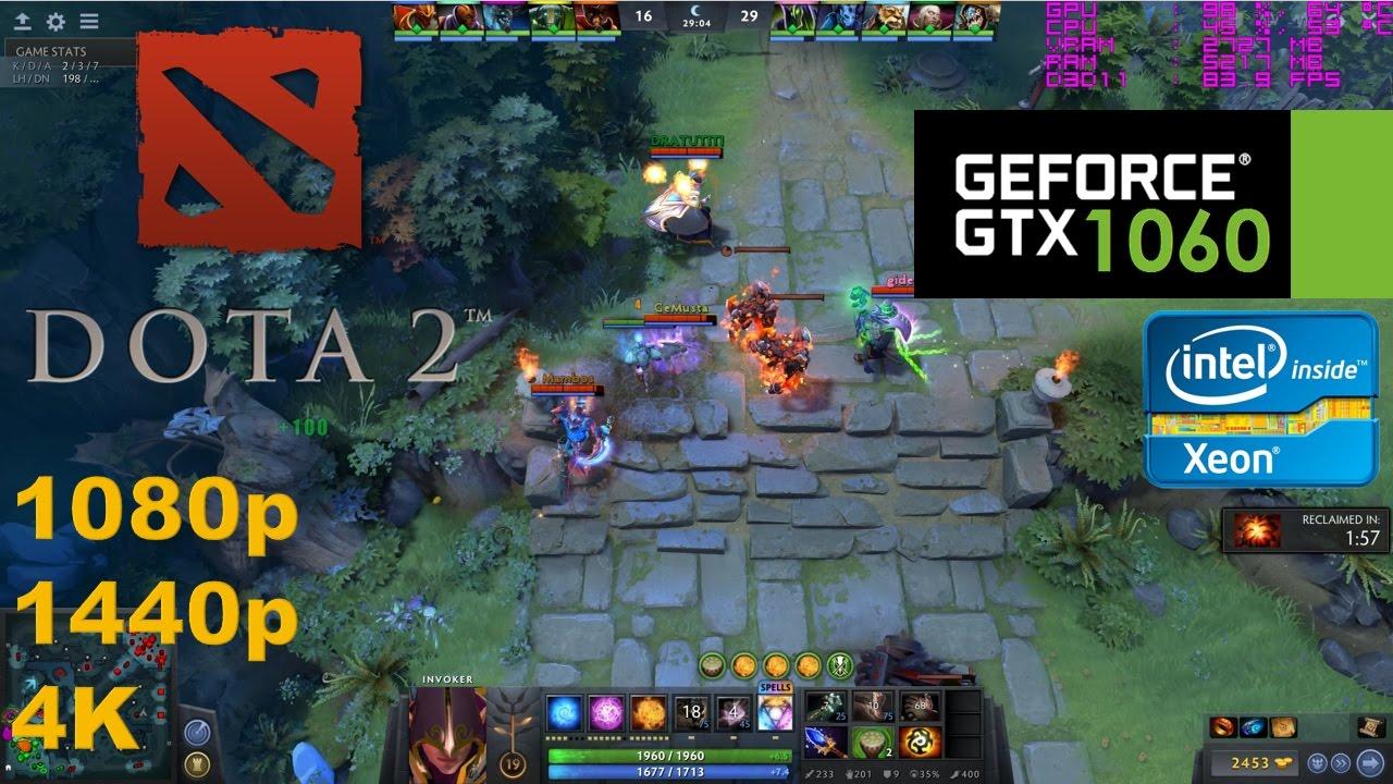 gtx 1060 dota 2 7 0 update 1080p 1440p 4k youtube
