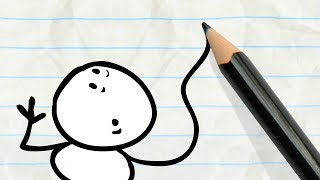 the pencil gives pencilmate a hand in pencilmation handy compilation cartoons for kids