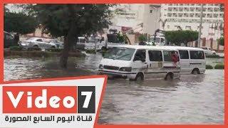صلاح سالم يتحول لبركة أمطار بسبب عاصفة التنين
