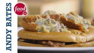 Pork Belly & Waldorf Salad Pretzel - Andy Bates