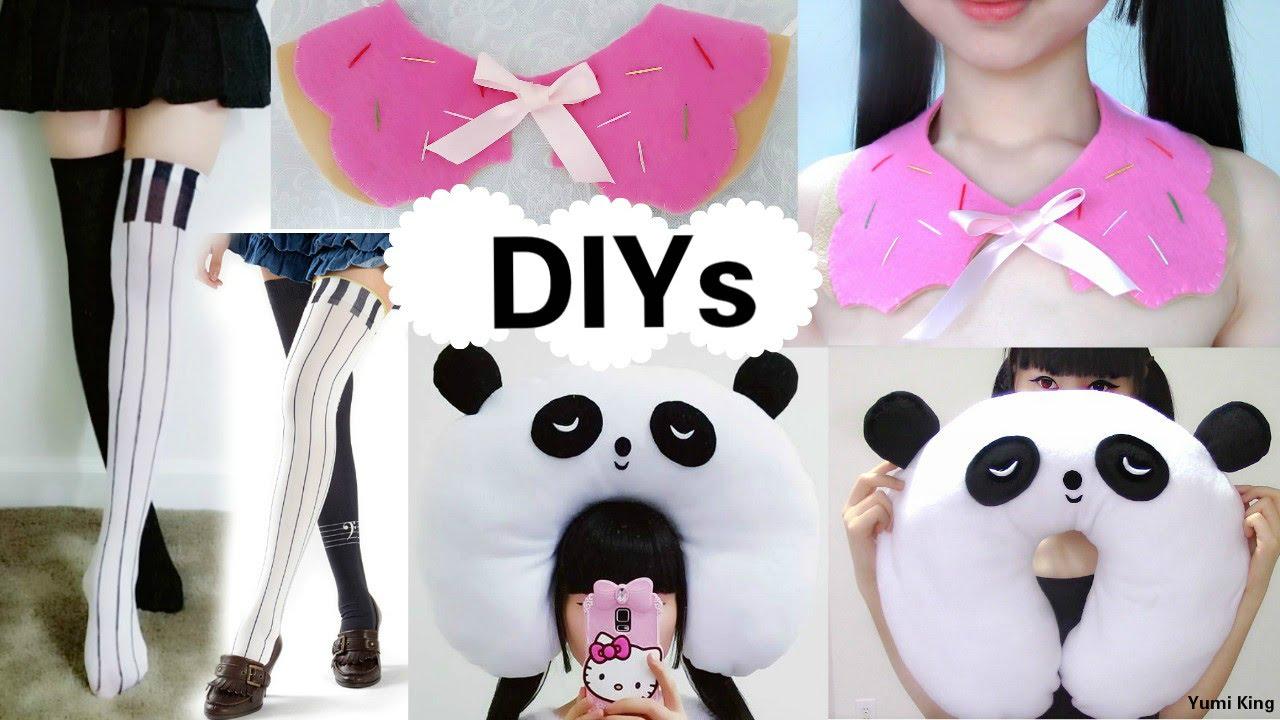 3 creative diys diy piano thigh highs diy panda travel neck pillow diy bitten donut collar