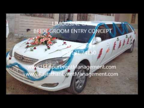LIMOUSINE CAR BRIDE GROOM STAGE ENTRY CONCEPT Contact 9928686346