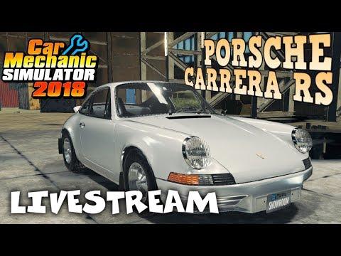 Junkyard Rebuild - 1973 Porsche Carrera RS - Car Mechanic Simulator 2018 Gameplay - Livestream