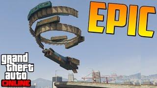 SÚPER DIFICIL!!! NO TIO!! - Gameplay GTA 5 Online Funny Moments (Carrera GTA V PS4)