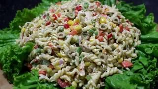 চিকেন ম্যাকারণি সালাদ রেসিপি |  Macaroni Salad  Recipe | Bangla Recipe