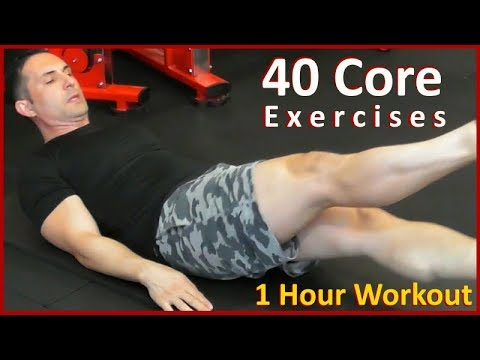 Looking for the best Abs workouts? Advanced workout using 40 different core exercises at home