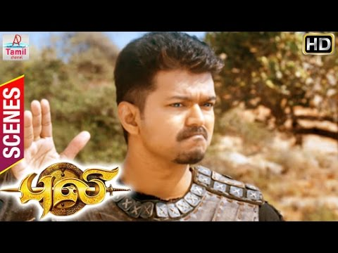 Puli Tamil Movie | Scenes | Vijay finds way using the hints | Thambi Ramaiah | Sathyan