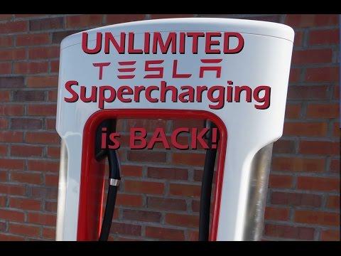 Tesla UNLIMITED Supercharging is Back!