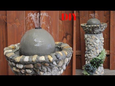 DIY Deko-Säule Aus Steinen,mit Abnehmbarem Brunnen/Column With Fountain